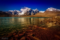 Sacred Lake - Gurudongmar Lake one of the highest lakes of the world at  ft  m altitude  photo by Jayanta Basu