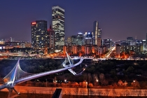 Saetgang Bridge and the Financial District behind Yeouido Seoul South Korea