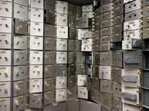 Safety deposit boxes inside a empty SE Florida bank