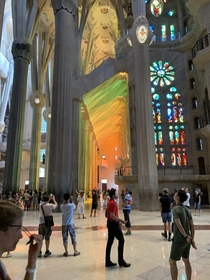 Sagrada Familia designed by Antoni Gaudi Barcelona Spain