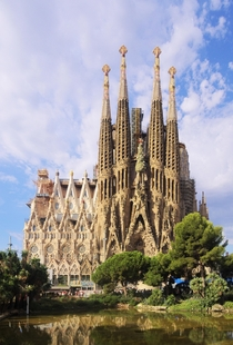 Sagrada Famlia in Barcelona by Antoni Gaud Photo by C Messier