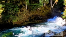 Sahalie Falls Oregon All natural lighting on ther shore line is beautiful