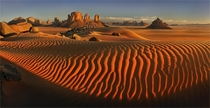 Sahara - sand dunes in Algeria  photo by Yury Pustovoy