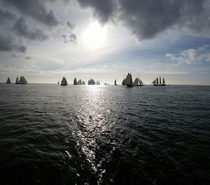 Sailboats on the Ijsselmeer The Netherlands