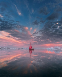 Sailing under the sky