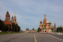 Saint Basils Cathedral and The Kremlin Red Square Moscow