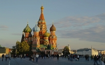 Saint Basils Cathedral in Red Square Moscow