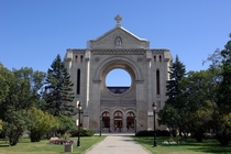 Saint Boniface Cathedral Winnipeg Canada by Montreal architect Jean-Omer Marchand Completed in  and partially destroyed by fire in  View