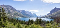 Saint Mary Lake in Glacier National Park Montana