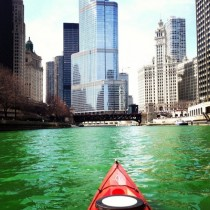 Saint Paddys Day on the Chicago River  xpost rChicago