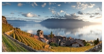 Saint Saphorin a vigneron village in Switzerland