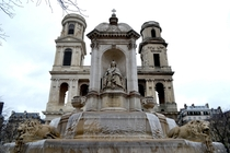 Saint-Sulpice church water fountain Paris