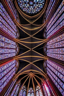 Sainte-Chapelle View of Ceiling amp Stained Glass