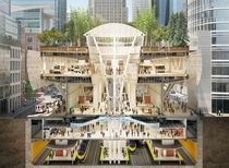 Salesforce Park San Francisco Combined Bus Terminal Subway Station Shopping center and Public Park
