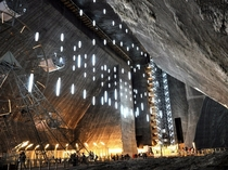 Salina Turda theme park  feet underground in one of the oldest salt mines in the world Romania