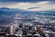 Salt Lake City in the Winter