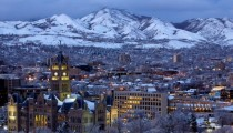 Salt Lake City in winter