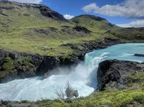 Salto Grande waterfall Torres del Paine Chile