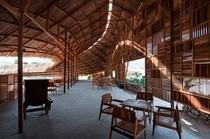 Salvaged Ring a coffee shop made out of scrap wood Nha Trang Khnh Ha Province Vietnam