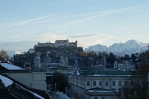 Salzburg Austria morning after a snow storm  x