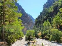Samaria Gorges beautiful down hike in Northern Crete