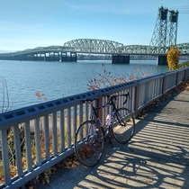 Same bridge different angle beautiful day for a bike ride