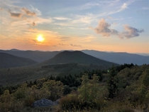 Sams Knob in the Balsam Range in WNC Great place to spend a late summer evening