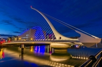 Samuel Beckett Bridge and Convention Centre Dublin Ireland Image - Tuzimek