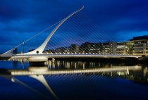 Samuel Beckett Bridge in Dublin Ireland