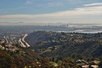 San Diego from Mt Soledad La Jolla CA just the other day