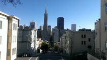 San Francisco as seen from lower Telegraph Hill