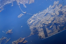 San Francisco as seen from the International Space Station via Astronaut Scott Kelly
