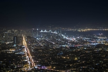 San Francisco at night - from Twin peaks