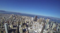 San Francisco downtown helicopter view