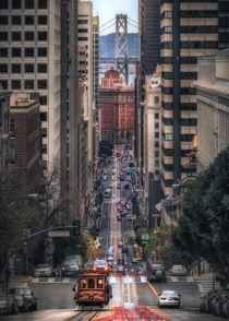 San Francisco extraordinary road view