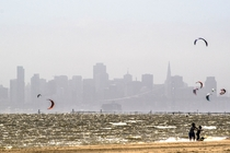 San Francisco from the beach in Alameda