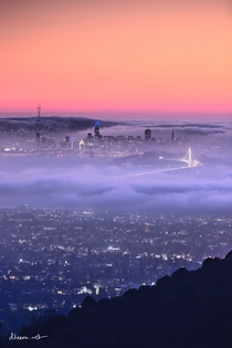 San Francisco getting engulfed by fog last night