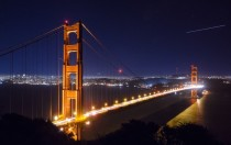 San Francisco Golden Gate Bridge at night