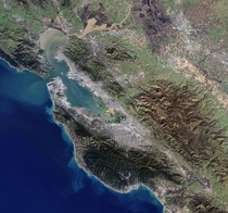 San Fransisco Bay Area acquired by Landsat- on  January
