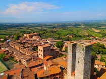 San Gimignano and the Tuscan countryside