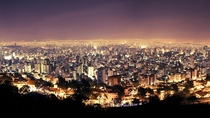 San Pedro Valley considered a technological hub in Belo Horizonte Brazil at night