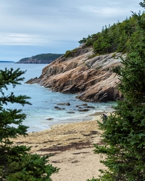 Sand beach in Acadia national park last weekend