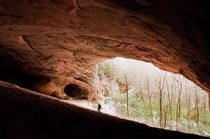 Sand Cave and me Kentucky