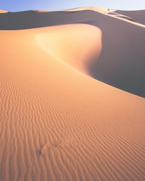 Sand dune textures at sunrise in death valley