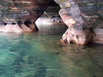 Sand Island sea caves Apostle Islands National Lakeshore WI