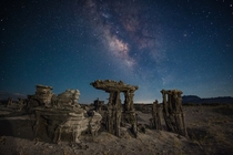 Sand tufa near Mono Lake CA  by Dan Barr