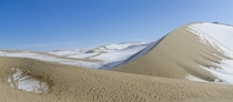 Sandy sand dunes in Dunhuang China