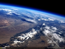 Sangre de Cristo Range Colorado from  feet up on a Weather Balloon by John Flaig