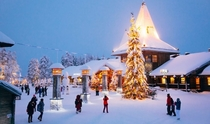 Santa Claus Village central-plaza-santa claus finland