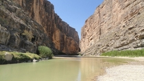 Santa Elena Canyon Big Bend National Park Mexico on the left US on the right